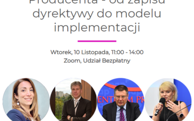 [Zapis Webinarium] Rozszerzona Odpowiedzialność Producenta – od zapisu dyrektywy do modelu implementacji